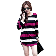 Big Discount Women Knitted Pullover Scoop Neck Casual Sweater Long Pullover Autumn Winter Women Tops 10 Types(China (Mainland))