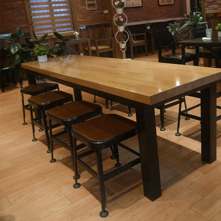 American starbucks iron wood tables to do the old european - Table cuisine retro ...