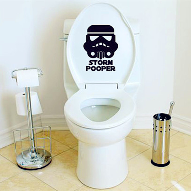 New Hot Toilet Decals Star Wars Inspired Storm Fashion Home Decor Sticker For Toilet Sticker Storm Pooper Wall  Mural Y-15