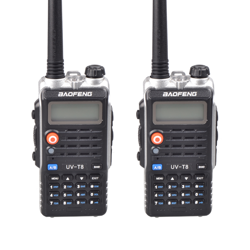 2PCS Baofeng UV-T8 Walkie Talkie Dual Band 136-174 / 400-520MHz handheld Two Way Radio(China (Mainland))