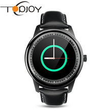 Topjoy DM365 Bluetooth Smart Watch Full HD IPS Screen Genuine Leather Writstrap SmartWatch For Apple IOS Samsung Android Phone