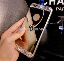 For Apple iPhone 4 4s 5 5s 6 6S 4.7'' 6 6S plus 5.5'' inch Bling Diamond Crystal Mirror Soft TPU Gel Case Back Cover for apple(China (Mainland))