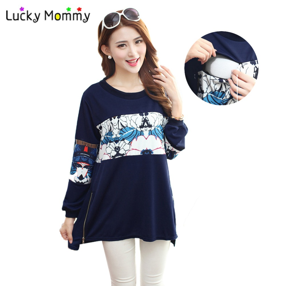 Nursing Top Winter Warm Clothes for Pregnant Women Casual Breastfeeding Tops Clothing for Feeding Maternity Blouses Shirts<br><br>Aliexpress