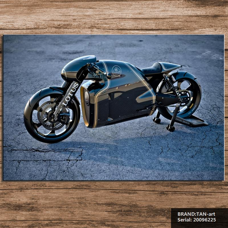 motorcycle Still life Modern oil Painting Drawing art Spray Unframed Canvas wax action handmade picture hologram wax20096225(China (Mainland))