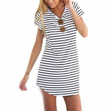 JECKSION Striped Shirt Women Brand,2015 New Casual O-Neck Short Sleeve Loose T-Shirt For Women Girls(China (Mainland))