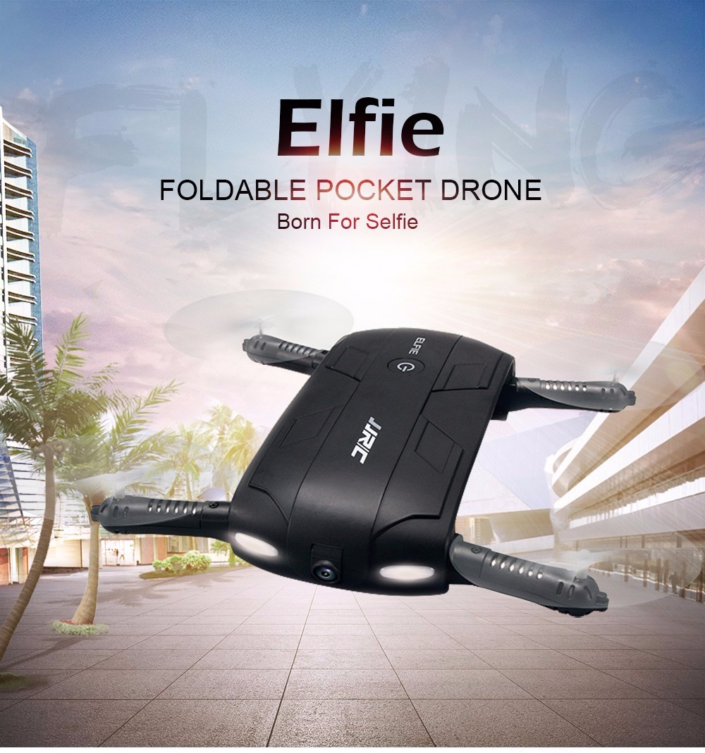 JJRC H37 Quadcopter Selfie Drone Foldable 6-Axis Gyro Altitude Hold G-sensor Elfie Mini Flight with Camera 720p WIFI FPV RC RTF