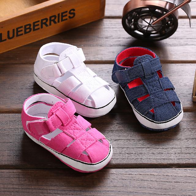 2015 cheap baby boys girls summer barefoot sandalias soft
