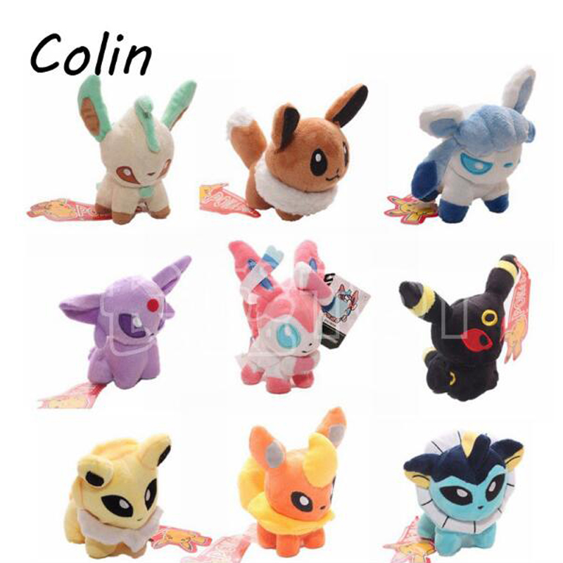 "1pcs Pokemon Go Plush Toys 5"" Umbreon Eevee Espeon Jolteon Vaporeon Flareon Glaceon Leafeon Animals Stuffed Doll Toy(China (Mainland))"