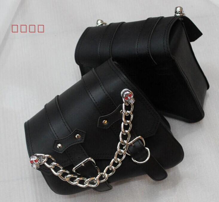 Мотоциклетная кожаная сумка для сидений Motorcycle side bag