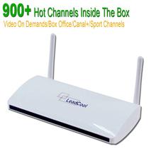 Streaming de IPTV Caja Androide Construido en Wifi 1G 8G Incluye 1000 Italia Portugal Francés Europa Cielo Árabe IPTV canales Paquete