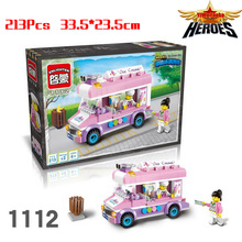 Hot Sales Ice Cream Truck Action Figures Mini Figures Building Blocks Classic Toys Children Gift Girl Toys With Legoe Lbk_qm_006