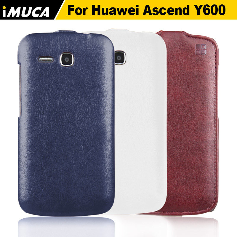 imuca vintage pu leather case for huawei ascend Y600 cover for huawe ascend y600 case flip phone cover shell with retail packge(China (Mainland))