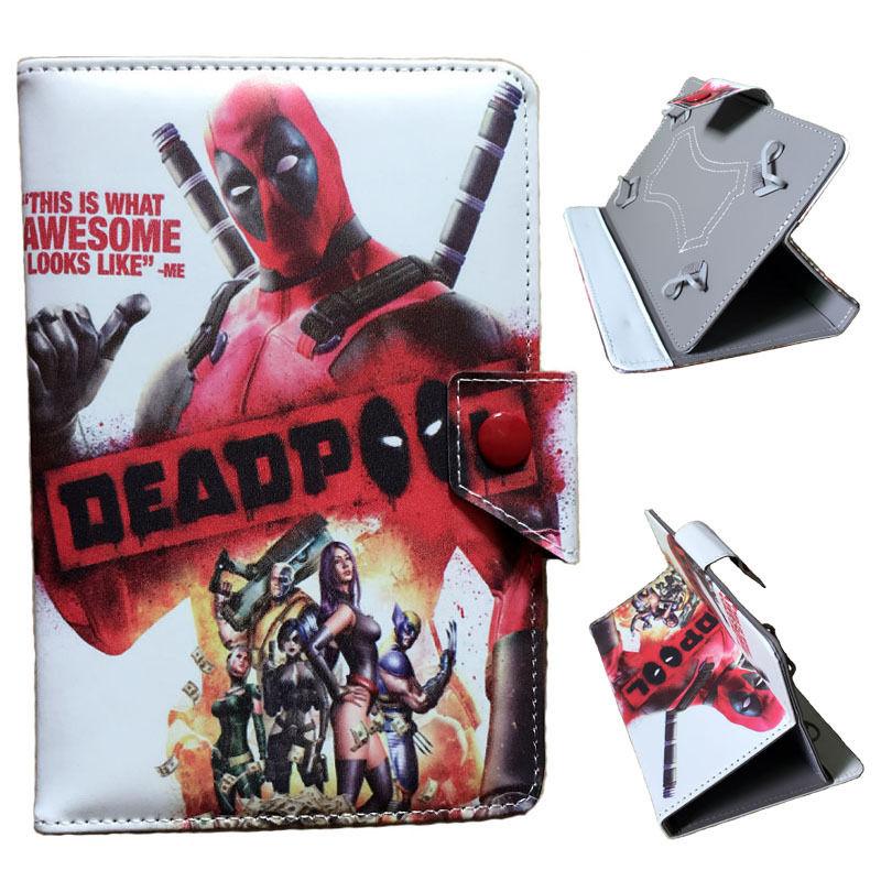 "X-men Wolverine Deadpool Spiderman Batman Joker Harley Quinn Leather Case for 7"" AT&T ASUS MeMo Pad 7 LTE GoPhone Prepaid Tablet(China (Mainland))"