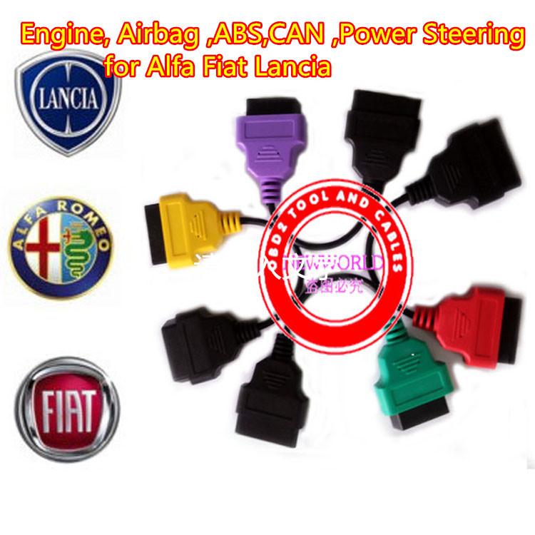 NEW Alfa Fiat Diagnostic Cables Leads for MultiECUScan / FiatECUScan Fiat , Alfa Romeo and Lancia(China (Mainland))