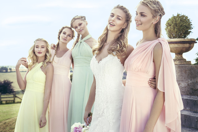 Hot Fashion Convertible Style Sexy Chiffon Party Wedding Bridesmaid Dresses Floor Length Dresses for Bridesmaids Vestido