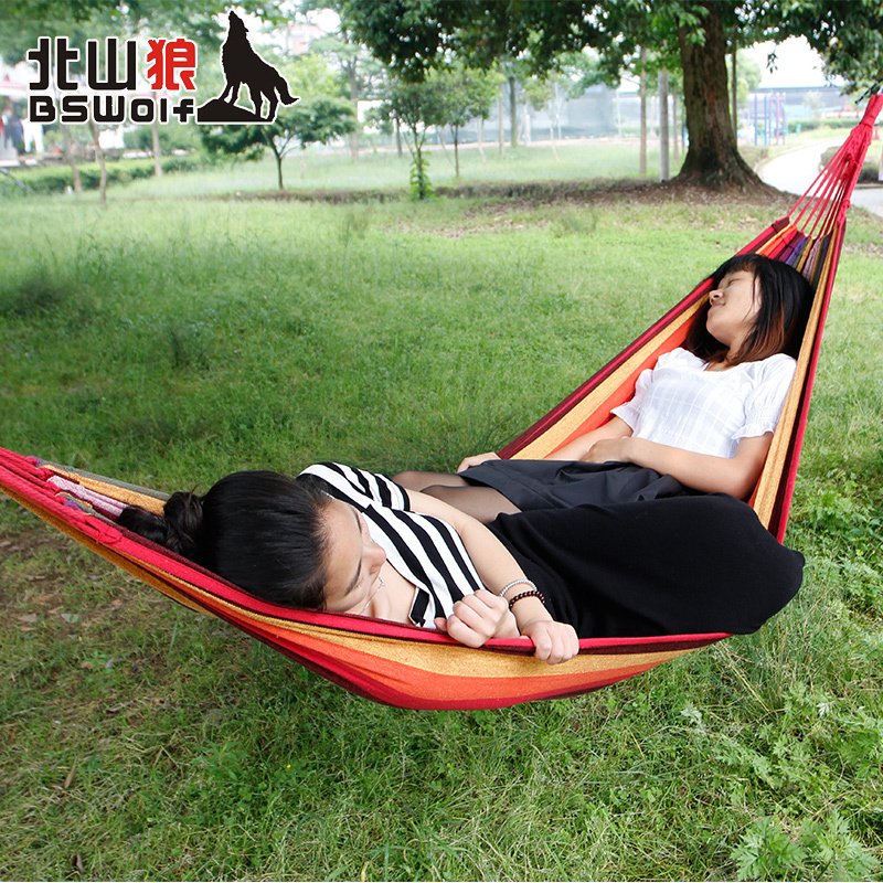 Size 200*140 BSWolf Best Selling Double Hammock Outdoor Furniture Hamaca Hanging Chair Best Chioce Garden Swing Free Shipping(China (Mainland))