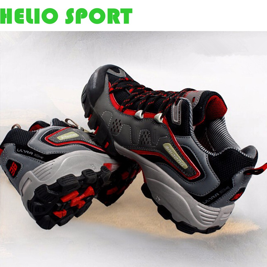 outdoor sport waterproof breathable brand genuine leather men running shoes light trainers sneakers running shoes men boots 39d2(China (Mainland))
