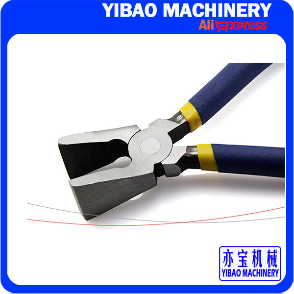 8 Inch Flat Nose Pliers / Stick Plastic Handle Open Mounth Glass Edge Cutting Tongs Hand Tool(China (Mainland))