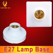 1pcs Round Base Lamp Bulb Socket Lampholder E27 Square PC Lamp Base E27 Light Holder Fitting E27 Accessories(China (Mainland))