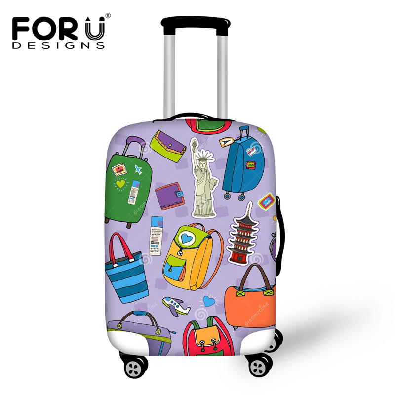 Brand 3D Printed Luggage Protective Covers Elastic Dust Rain Cover 18-30 Inch Trunk Case Travel Trolley Suitcase - KIDS FOR YOU,CO.,LTD store