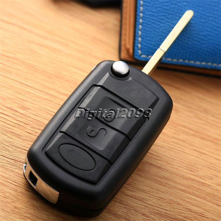 New Black 3 Button Flip Fob Remote Folding Car Key Case Uncut Blade Key Shell Cover for Range Rover Sport Land Discovery Rover 3(China (Mainland))