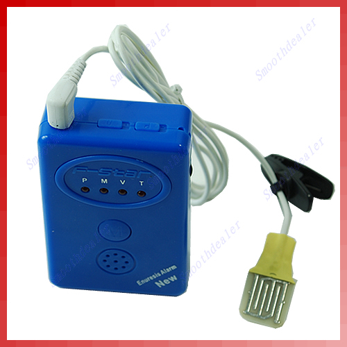 A25 Blue Adult Baby Bedwetting Enuresis Urine Bed Wetting Alarm Sensor With ClampFree Shipping wholesale retail
