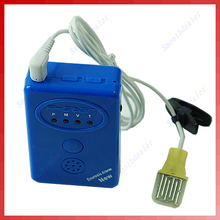 Blue Adult Baby Bedwetting Enuresis Urine Bed Wetting Alarm+Sensor With ClampFree Shipping wholesale/retail