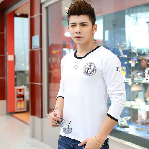 spring autumn new arrive cotton men t shirt fashion long sleeve O neck t-shirts high quality outdoor clothes for mens(China (Mainland))