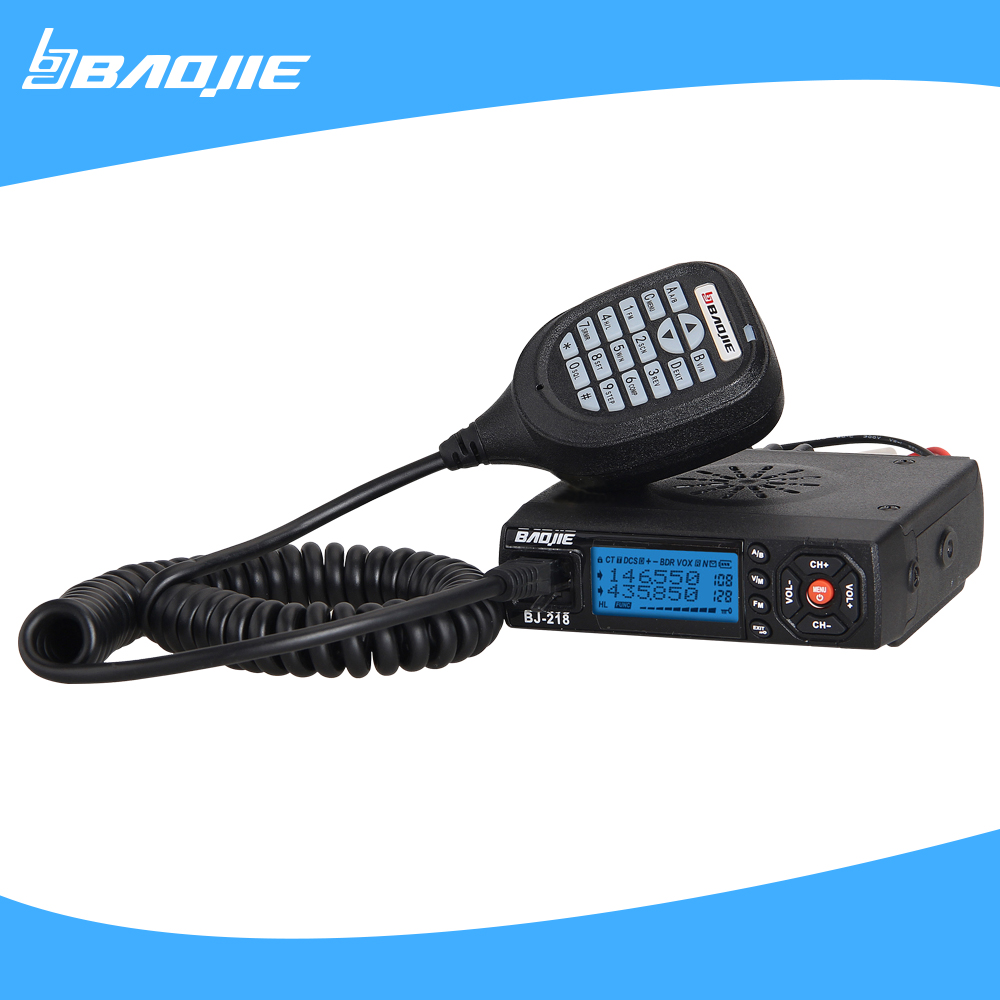 MINI BJ-218 mobile Radio VHF 136-174MHz UHF 400-480MHz transceiver car radio mobile Walkie Talkie(China (Mainland))