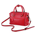 Trendy Fashion Boston Bag Women Luxury Concise Handbag Embossed PU Occident Style Bag Ladies Designer Shoulder