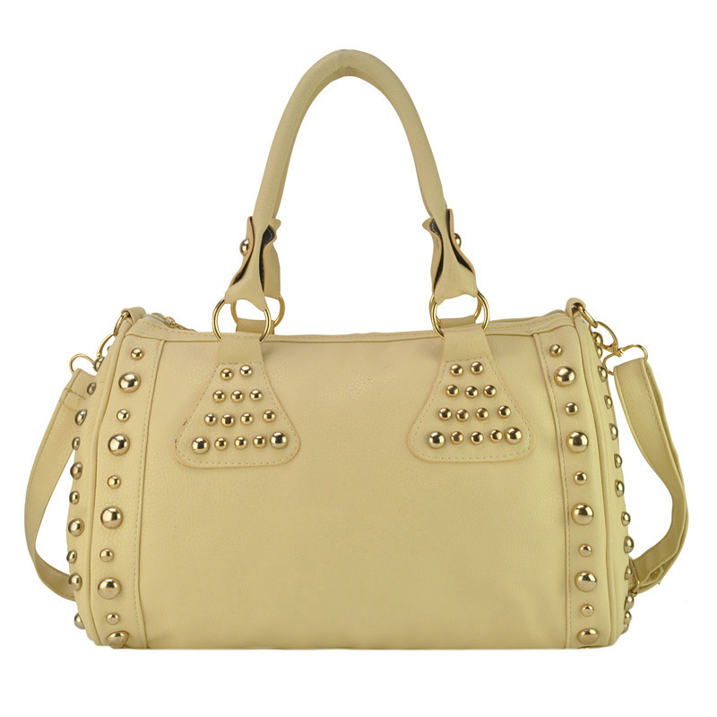 2013 New Arrival Rivets Women's BowlingTote Bag Fashion One shoulder Handbag Free Shipping VK1318