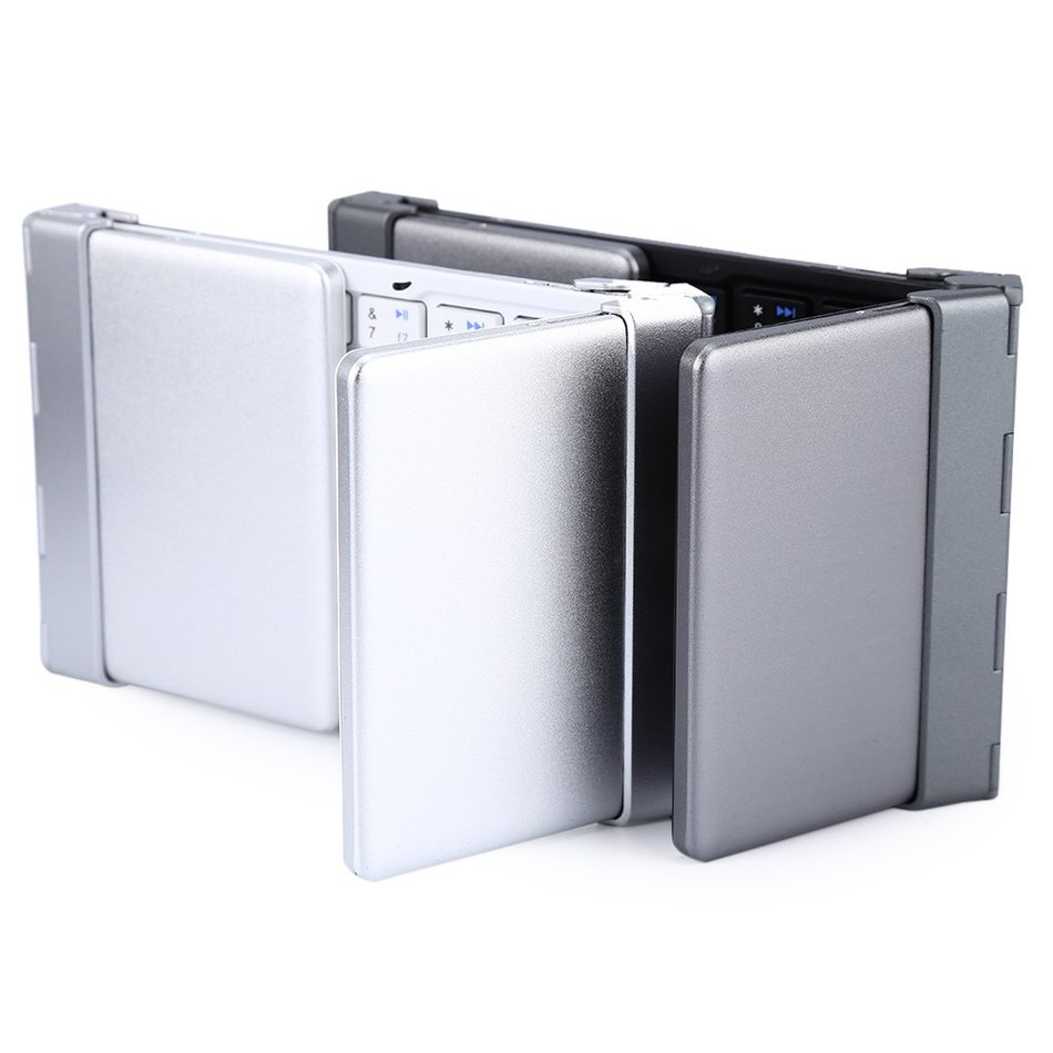 HB066 Intelligent Pocket Aluminum Foldable WirelessTravel Bluetooth 3.0 Travel Keyboard Keypad for iphone ipad PC tablet phone(China (Mainland))