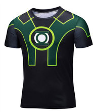 Marvel Super Heroes Avenger Captain America Batman sport T shirt Men Compression Armour Base LayerThermal Under Causal Shirt 6xl