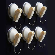 6 pcs/Lot Super wall hooks Reusable sucker hook decorative key hanger ganizer Bathroom accessories Novelty households 5160(China (Mainland))