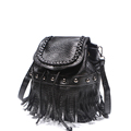 New Fashion Fringed Backpack Multi purpose Bag Designer Knitting Rivet Tassel Bucket Bag Women Cheap Shoulder
