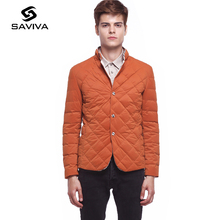 2016 Fashion New Men Down Jacket Light Warm Lattice Short Coat Thin Slim White Duck Down Jacket Men Ultralight Large Size Stand(China (Mainland))