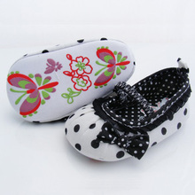 New Cute Baby Girl Boy First Walkers Toddler Shoes Boots Multi color Dot Bow Children s