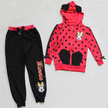 Spring Autumn style children cartoon clothes suit kids long sleeve clothing set for baby girls Christmas gifts suit 2 pics/suit(China (Mainland))