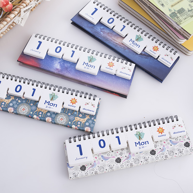 Diy Calendar Supplies : Custom printing mini print perpetual desk diy office cute