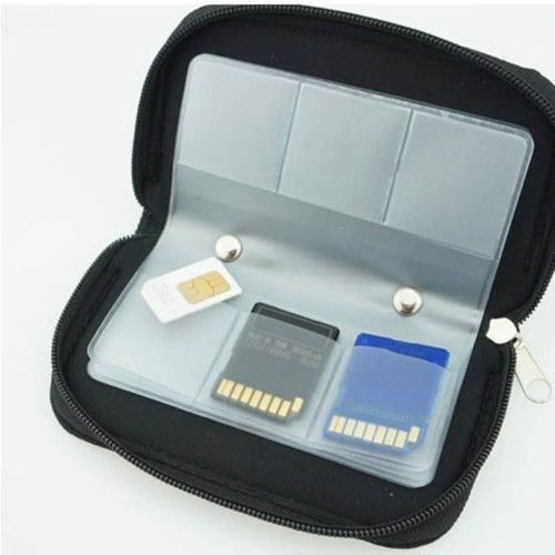 22 SDHC MMC CF Micro SD Memory Card Storage Carrying Pouch Case