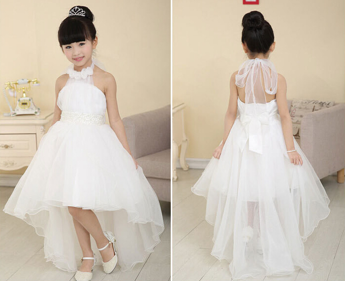 wholesale flower girl floor length organza dresses