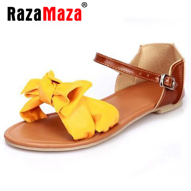 Женщины сандалии богемия бантом лодыжки wrap сандалии модный бренд женская обувь ...