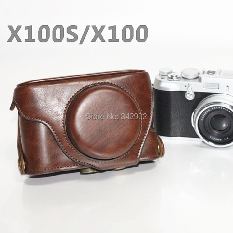 Fuji Fujifilm X100s/X100 X100T bag classic detachable type special case bag Dark Brown(China (Mainland))