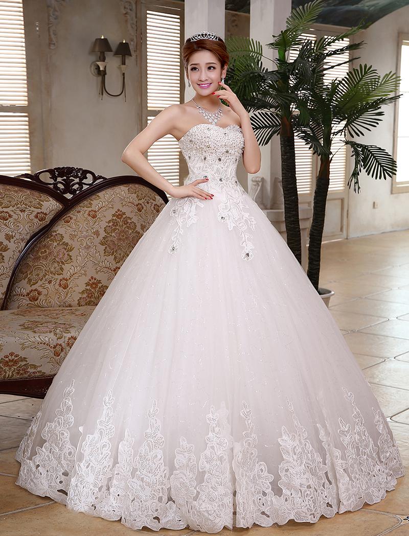 2015 white sexy off shoulder bride wedding sweet princess for Slim white wedding dresses
