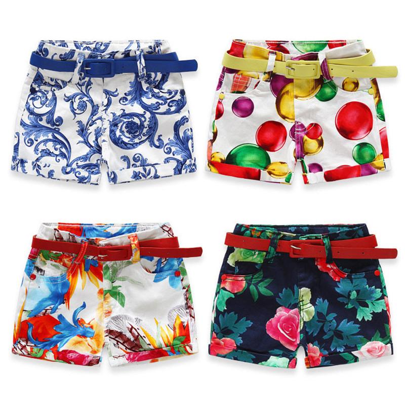 New Summer Fashion Flower Baby Girls Casual Pants Children Shorts costume Capris Beach Pants Kids Shorts Girls Shorts