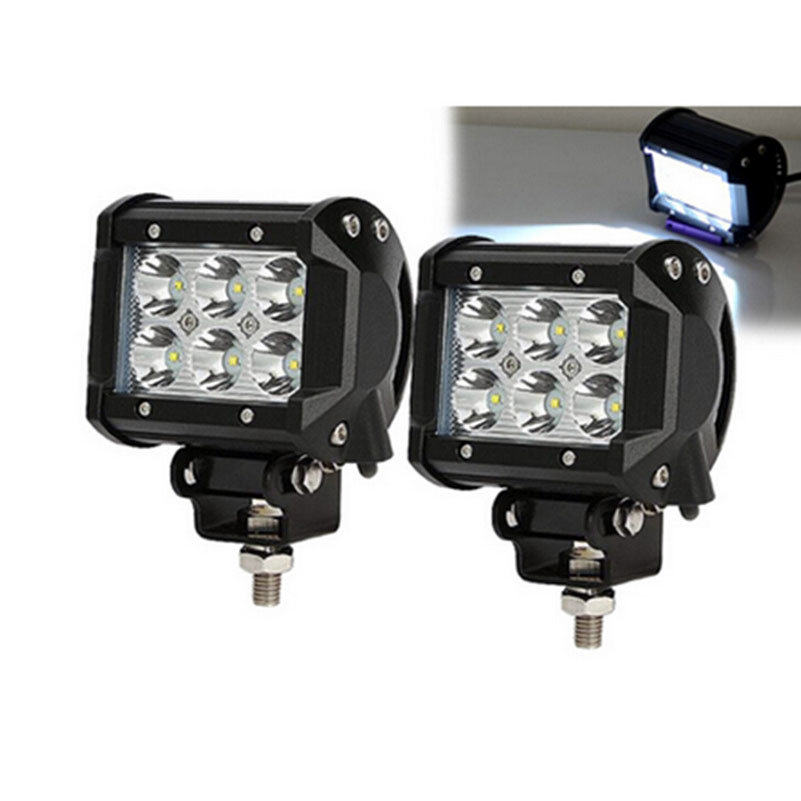 18W LED Work Light Tractor Boat Bus Offroad Lamp Truck SUV ATV 6 Leds Spot Flood Beam Super Bright(China (Mainland))