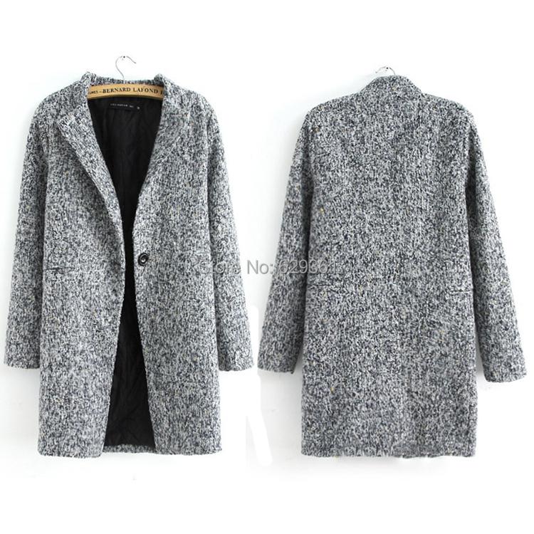 Images of Grey Wool Coat - Reikian
