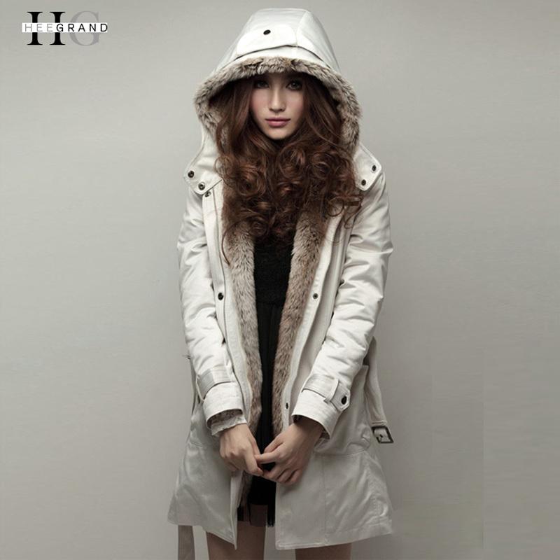 Casacos Femininos Faux Fur Lining Women Hooded Ladies Long Jacket Winter Warm Cotton Coats Clothes Parkas Drop Shipping WWM056(China (Mainland))
