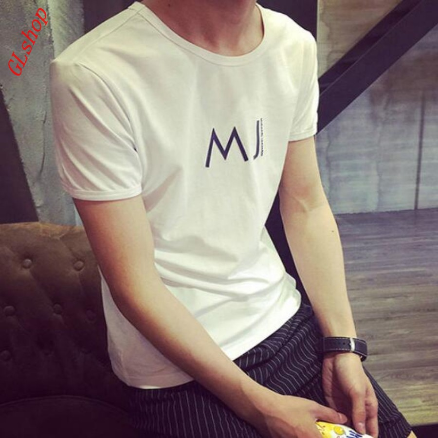 Summer Cool Boy Printed Slim Fit Short Sleeved T-shirts Fashion Mens Plain Tees Tops Size White Plus Size T Shirt for Men Size(China (Mainland))