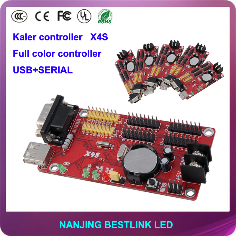 LED controller card X4S 64*1024 pixel led control card with led display module rgb led panel led car sign electronic scoreboard(China (Mainland))